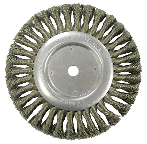 "Weiler 36279 Vortec Pro Knot Wire Wheel, Standard Twist, 8"", 0.23"" Steel Fill, 5/8"" Arbor Hole (Pack of 2)"