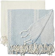 2 pack 100 Cotton throw Anchor Shores Blue