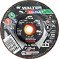 Walter Flexcut Premium Performance Flexible Grinding Wheel, Type 29, Round Hole, Aluminum Oxide