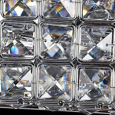 Appliques murales carršŠ de cristal 6w k9 avec 2 lumiššre