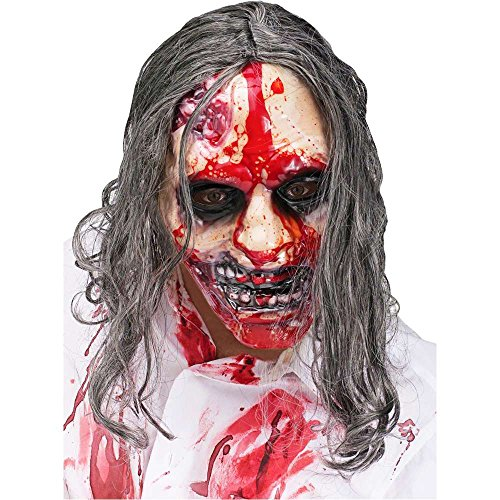 Bleeding Zombie Mask with Pump - One Size