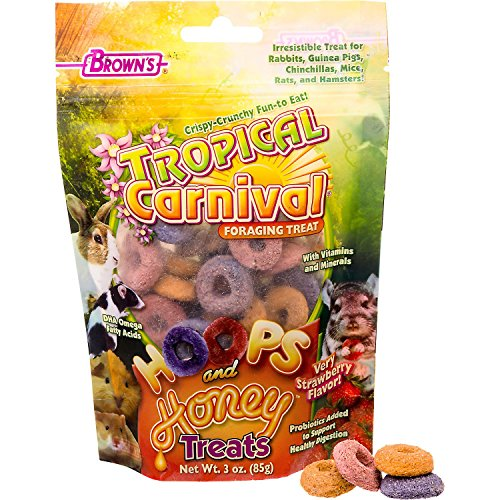 Brown's Tropical Carnival Hoops & Honey Treats 61DQzU4sAFL hamster cages Hamster Cages | Toys | Balls | Treats | Bedding 61DQzU4sAFL