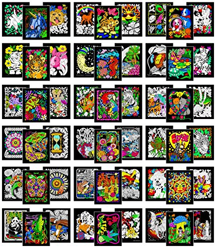 Colossal Pack of 54 Fuzzy Velvet 8x10 Inch Posters