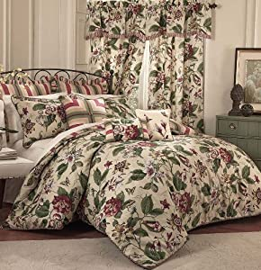 Waverly 4 piece laurel springs comforter set for Kitchen queen set