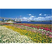 1500スモールピース パズルの達人 瀬戸大橋と花畑-香川 (50x75cm)
