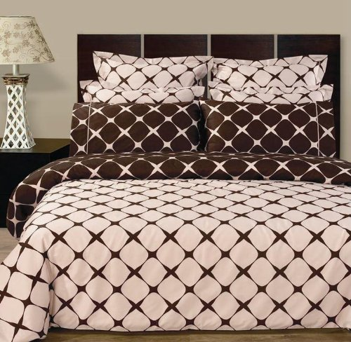 Lovely  PC Blush Chocolate Full size double bed Bloomingdal Down Alternative Bed in a bag Comforter