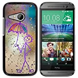 Smartphone Protective Case Hard Shell Cover for Cellphone HTC ONE MINI 2 M8 MINI CECELL Phone case Happy Rain Window Painting