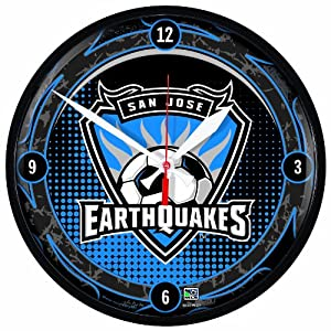 MLS San Jose Earthquakes Round Clock by WinCraft