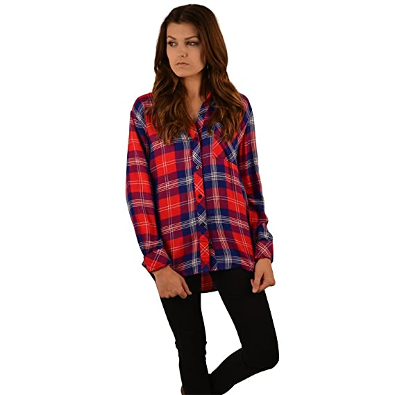 Rails Hunter Shirt in Red and Blue