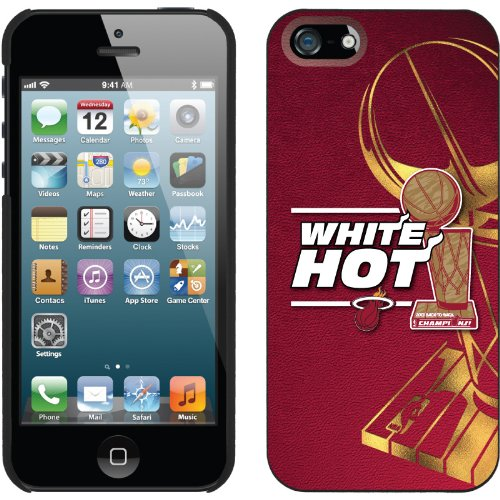 Great Price Miami Heat 2013 Champions Gold design on a Black iPhone 5s / 5 Thinshield Snap-On Case by Coveroo