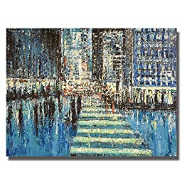 Urban Rhapsody #15 by David Tycho Premium Gallery-Wrapped Canvas Giclee Art (Ready-to-Hang)