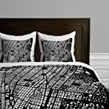 DENY Designs CityFabric NYC Black Duvet Cover, Twin