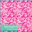 CLASSIC PINK CAMOUFLAGE PATTERN #1 Craft Vinyl 3 Sheets 12x12 Army Camo for Vinyl Cutter