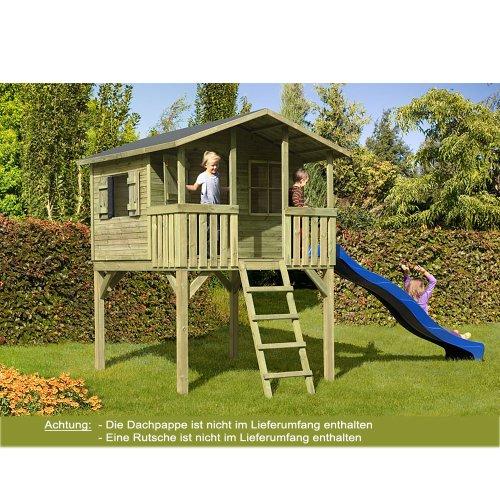 Gartenpirat Stelzenhaus Spielhaus Tom aus Holz mit Veranda Picture