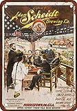 1901 Adam Scheidt Beer Vintage Look Reproduction Metal Tin Sign 12X18 Inches