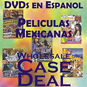 60 Spanish DVDs Wholesale Case Deal (Peliculas Espanolas)