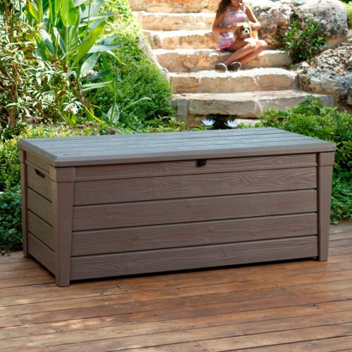 Keter Brightwood Deck box, 120-Gallon