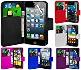 Direct-2-Your-Door - HTC Sensation XE Premium PU Leather Wallet Case Cover Pouch & Screen Protector - Black
