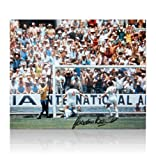 Gordon Banks hand signed photo - Pele Save 1970 World Cup