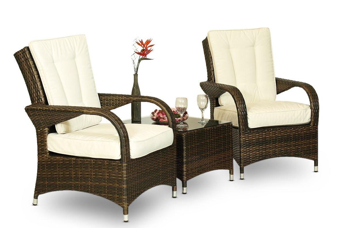 Arizona Gartenmöbelgarnitur, Rattan, Tisch & 2 x Sessel Gartenmöbel Garten Lounge-Set bestellen