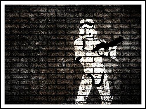 Imagenation Stormtrooper di Star Wars mattoncini ', 60x 80cm Stampa su removibile adesivo carta da parati poster