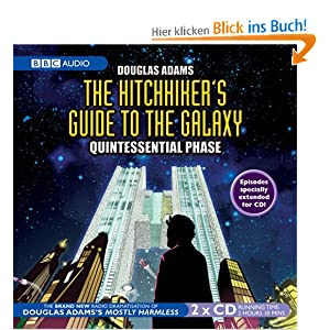 hitchhiker 39 s guide to the galaxy quintessential phase bbc audio douglas adams. Black Bedroom Furniture Sets. Home Design Ideas