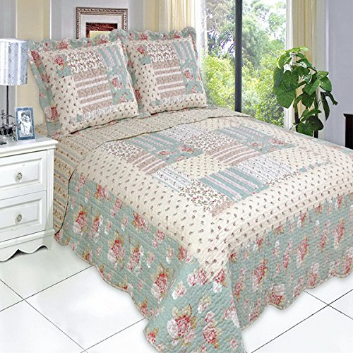 Get Quilt Coverlet Set Kingcal King Oversized Country Cottage