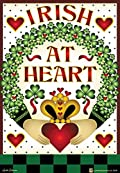 Irish at Heart Garden Flag St Patrick's Day Claddagh Clover Shamrock 12