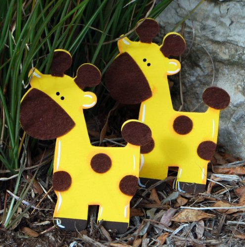 Felted Giraffe Quilt Clips - Set/2 back-47013