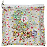 Freckled Fawn Printed Clear Plastic Zippered Pouch 8