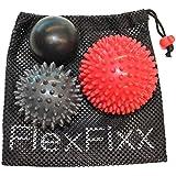 FootFixx Massage Ball Set for Foot Pain, Back Pain, Plantar Fasciitis using Deep Tissue Reflexology Trigger Point Sensory Therapy