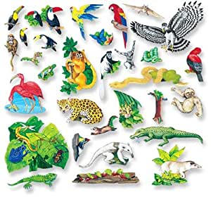 Little Leaf Felt Fun Rainforest Friends Set Pre Cut Feltboard Figures