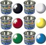 Revell Paint Set Basic Enamel Colours...