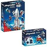 PLAYMOBIL® City Action L'espace set des 2 parties 6195 6197 fusée avec station de bas