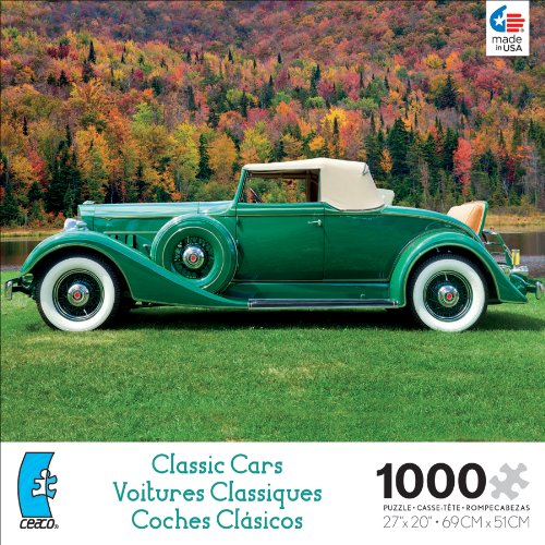 Ceaco Classic Cars Green Jigsaw Puzzle