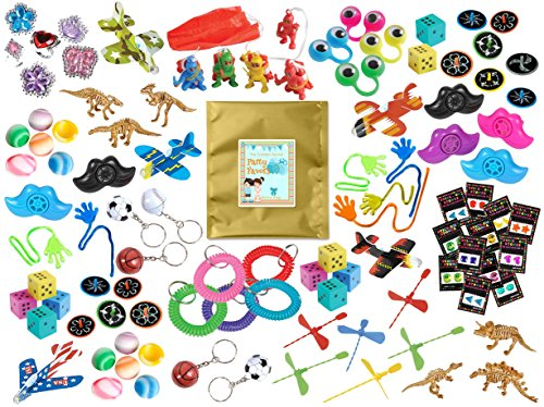 100 Piece Bulk Party Favor Bundle Assortment Pack of Toys for Parties, Pinatas, Claw Machines, Classroom or Carnivals (Egg Vending Machine compare prices)