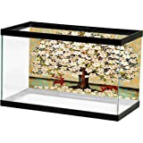 bybyhome Fish Tank Deer Under The White Flower Tree Various Patterns (Color: Design13, Tamaño: 24