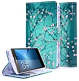 Coolpad Rogue Case, NageBee - Design Dual-Use Flip PU Leather Fold Wallet Pouch Case Premium PU Leather Wallet Flip Case for Coolpad Rogue (Wallet Plum Blossom)