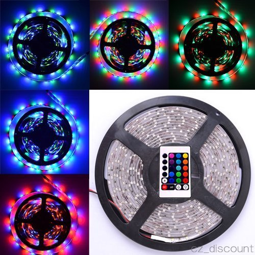Generic Strip Kit Led Light Strip 3528 5M Smd Non-Waterproof Rgb Color 300 Leds 12V Input With 24 Key Ir Remote Controller front-384443