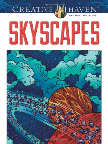 Creative Haven SkyScapes Coloring Book Books