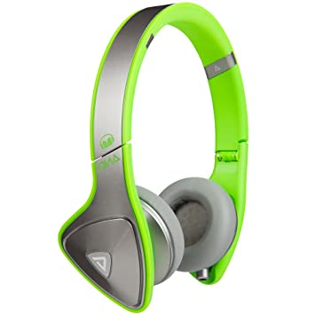 Casque Monster DNA Silver on Neon Green