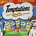 Temptations Whiskas Mega Pack Cat Treats, Assorted Flavors, 6.3 oz, 5 Pack