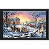 Dimensions Gold Collection Pleasures Of Winter Cntd X-Stitch Kit