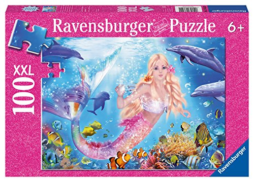 Ravensburger Mermaid and Dolphins Glitter Puzzle (100 Piece)