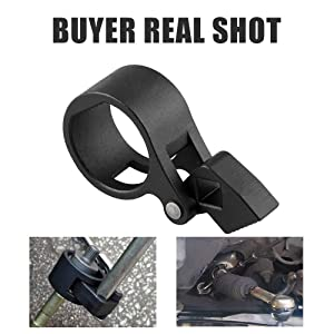 Ruien Universal Inner Tie Rod Hex Wrench Easy Removal Tools 27-42mm for Almost All Car's Models Available,for Mercedes Benz, BMW, Toyota, Honda, Ford, Nissan (Color: Black, Tamaño: US-OT340-BK)