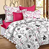 Story@ Home White 100% Cotton 1 Double Bedsheet With 2 Pillow Cover