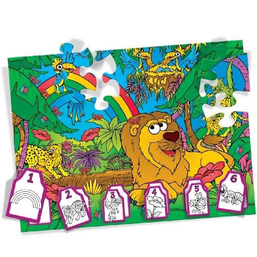 Crayola Jumbled Jungle Color Match 36 Piece Puzzle - Buy Crayola Jumbled Jungle Color Match 36 Piece Puzzle - Purchase Crayola Jumbled Jungle Color Match 36 Piece Puzzle (Great American Puzzle Factory, Toys & Games,Categories,Preschool,Pre-Kindergarten Toys,Puzzles)