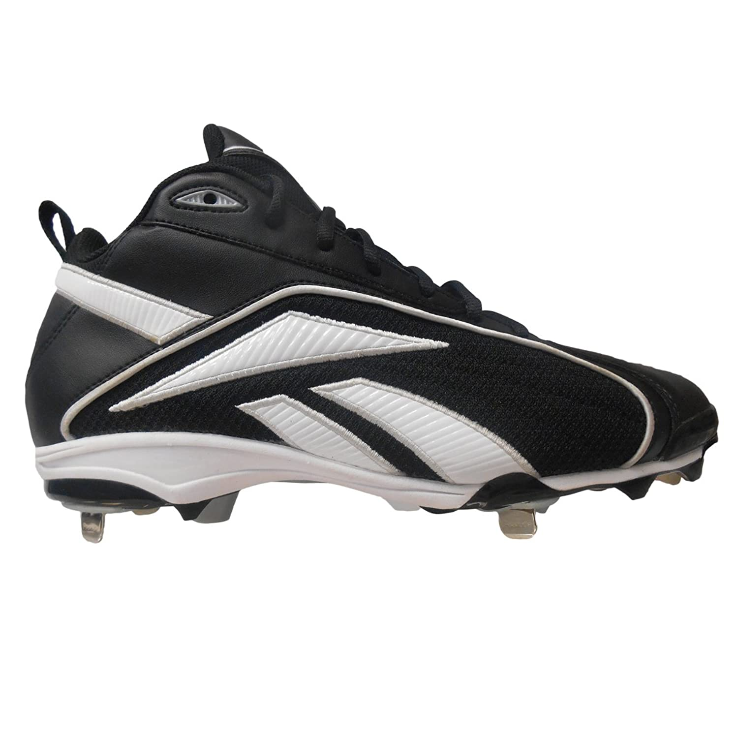 Reebok Vero FL Mid II Men's Baseball Cleats (7, Black/White)