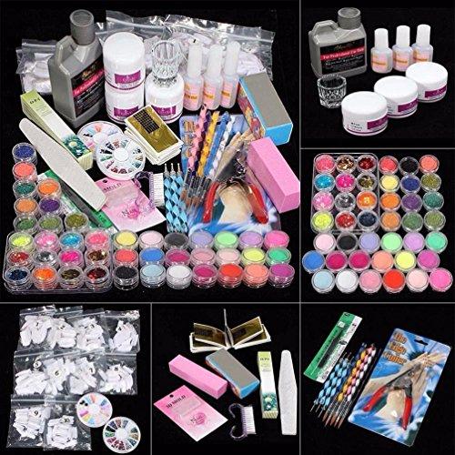 yoyorule-professional-42-acrylic-powder-liquid-brush-glitter-clipper-primer-file-nail-art-tips-set-k
