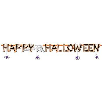 Beistle Happy Halloween Streamer, 10-Inch by 6-Feet